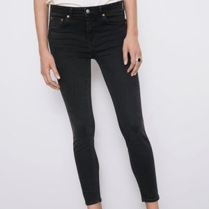 Zara Black Faded Skinny Jeans